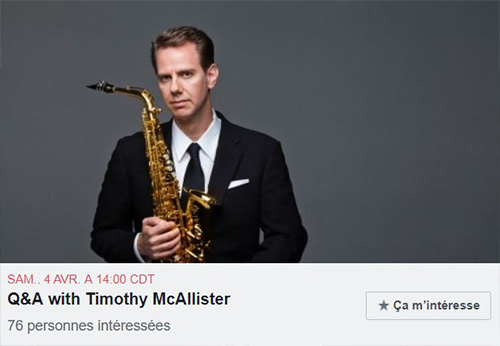 Event with Timothy McAllister